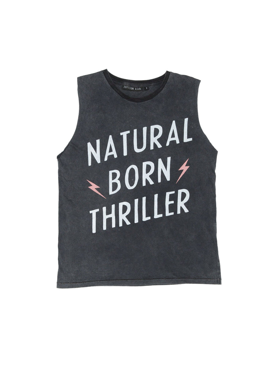 Zuttion Tank Top Natural Born Thriller