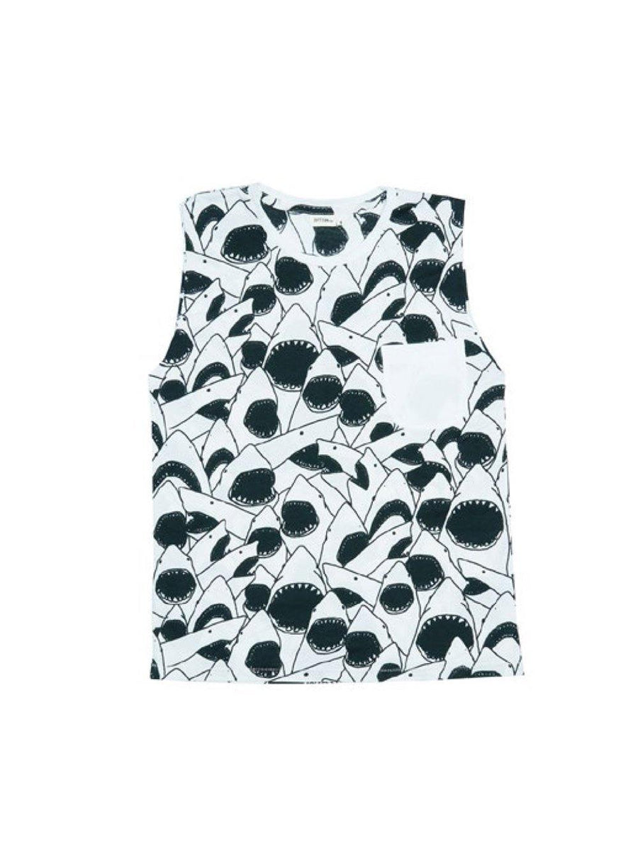 Zuttion Tank Top Shark - 1love2hugs3kisses Ibiza