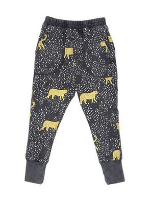 Zuttion Trackies Leopard Diamond Washed Black - 1love2hugs3kisses Ibiza