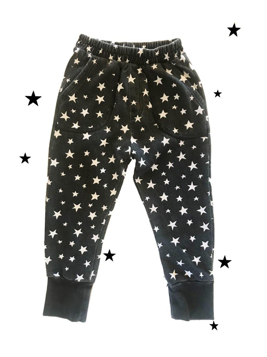 Zuttion Trackies White stars Charcoal - 1love2hugs3kisses Ibiza