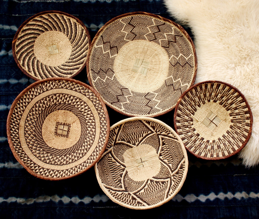 African Basket Group Design Service - Binga Wall Basket Set - Contact me for this service. ZBB1