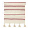 SALE - Bloomingville Natural/Red Stripe Rug