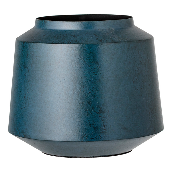 Bloomingville Blue Metal Flower Pot