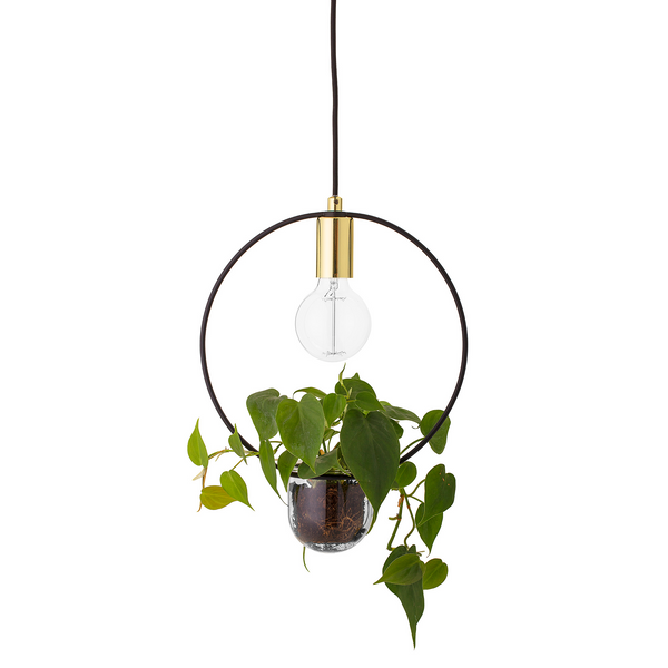 Bloomingville Plant Pendant Light Gold