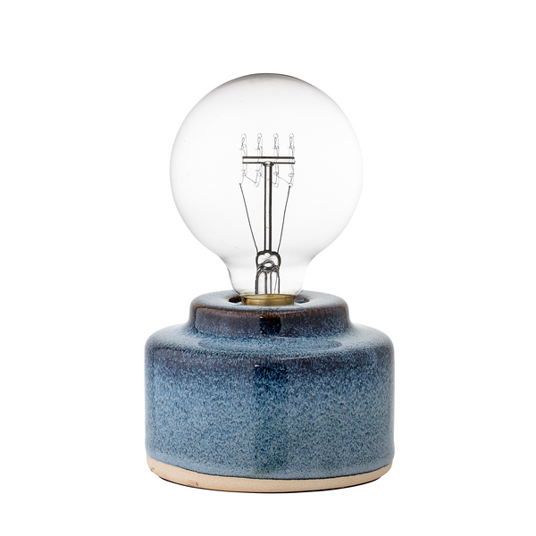Bloomingville Blue Ceramic Lamp