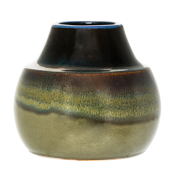 SALE - Bloomingville Green Metallic Effect Vase