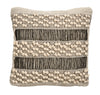 Nordal Textured Natural Black Cushion