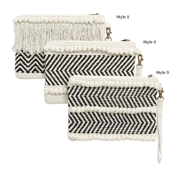 SALE - Nordal Off White & Black Clutch