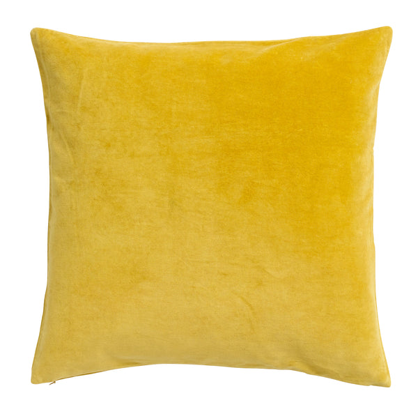 Nordal Yellow Velvet Cushion