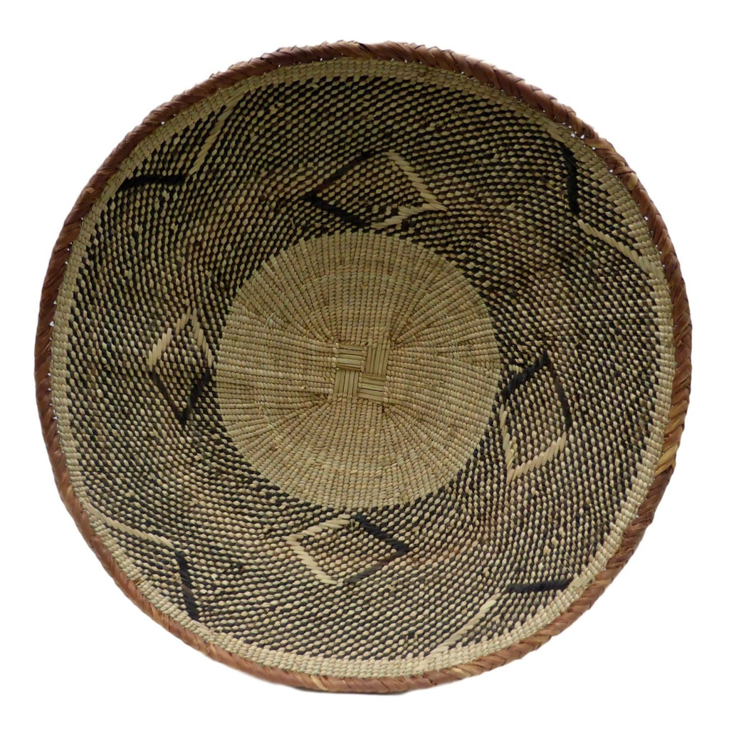 "Binga Basket 39.5cm(15 1/2"") - African Basket, African Wall Baskets (Second)- ZBB2221"