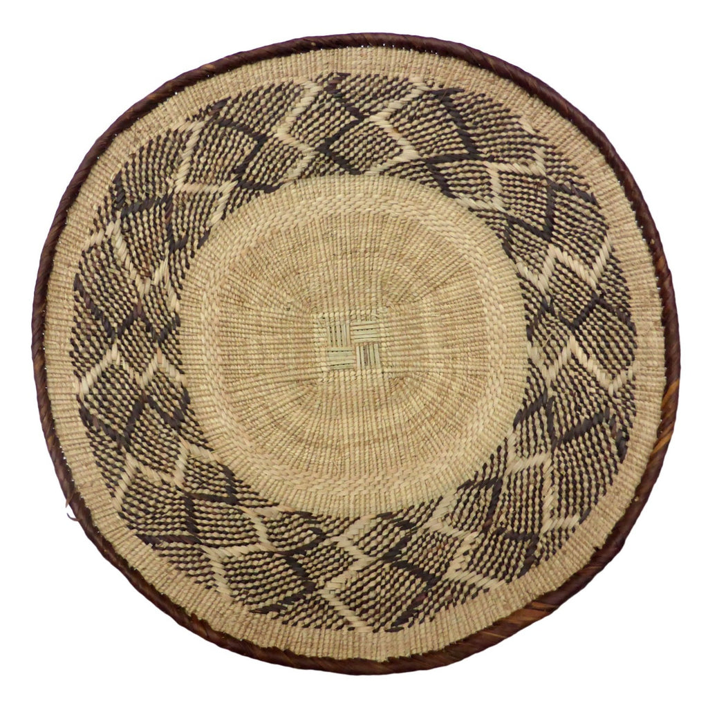 "Binga Basket 40.5cm(16"") - (Seconds) African Basket, African Wall Baskets - ZBB2316"