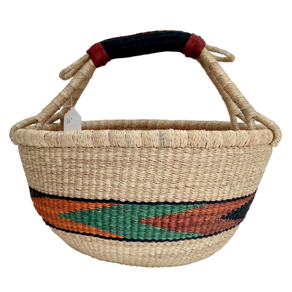 African Basket, Storage Basket, Bolga Basket, Woven Basket, Ethnic, Boho, Very Large,  BABAMB145-17