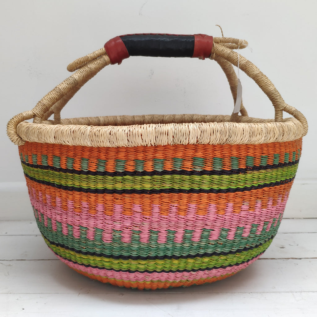 African Basket, Storage Basket, Bolga Basket, Woven Basket, Ethnic, Boho, Very Large,  BABAMB147-17