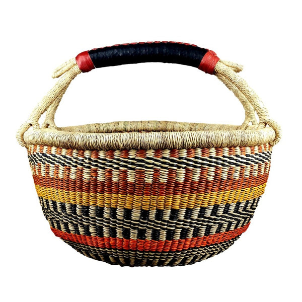African Basket, Storage Basket, Bolga Basket, Woven Basket, Ethnic, Boho, Very Large,  BABAMB152-18