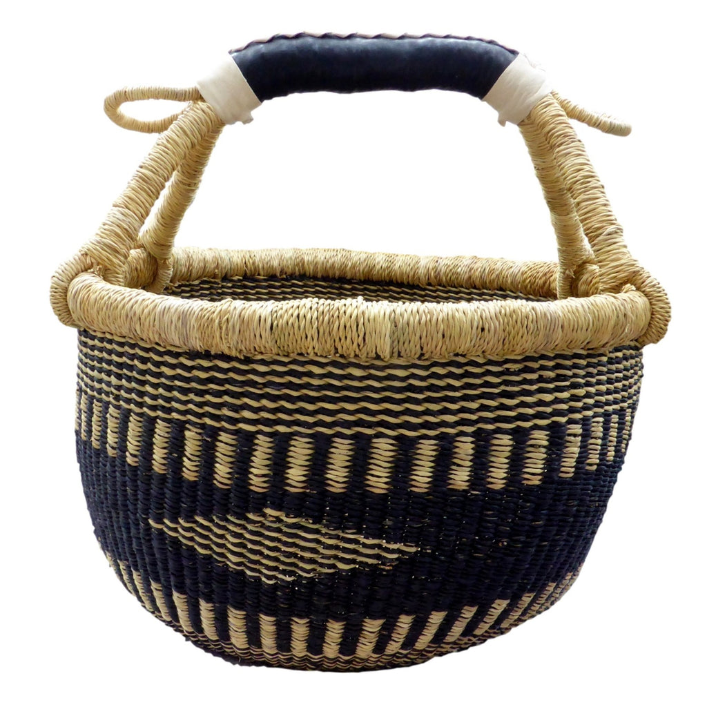 African Basket, Storage Basket, Bolga Basket, Woven Basket, Ethnic, Boho, Medium, BABAMB179-15