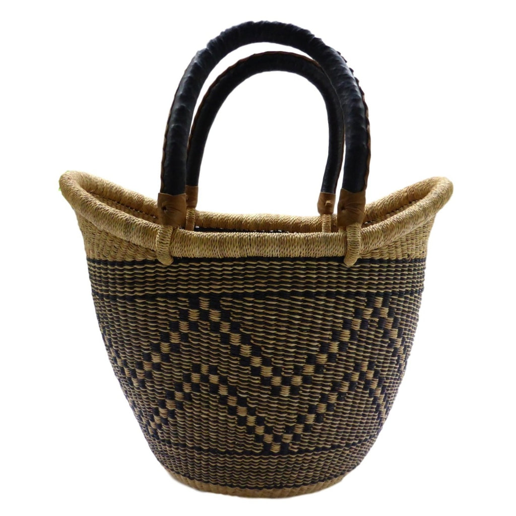 Ushopper Tote Bag, Medium, African Bolga Basket, BABANS17M