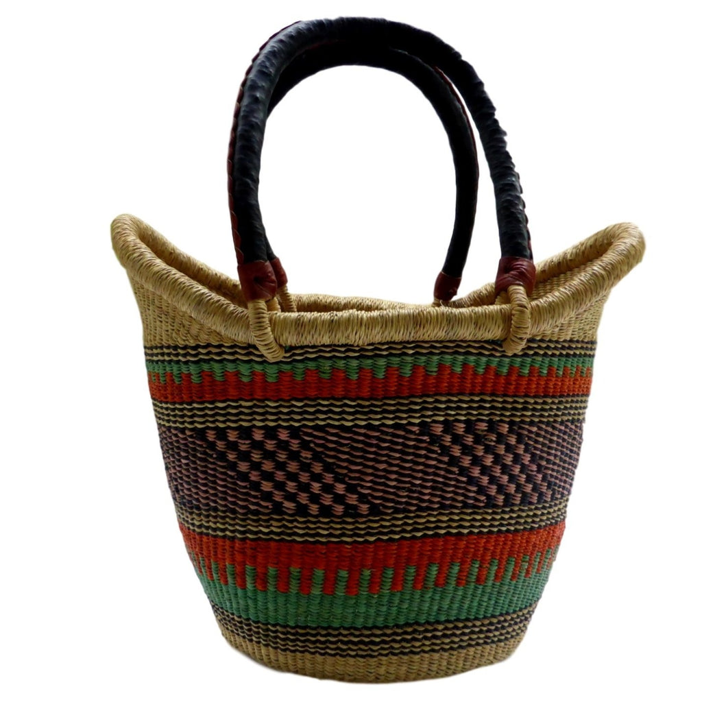 Ushopper Tote Bag, Medium, African Bolga Basket, BABANS16M