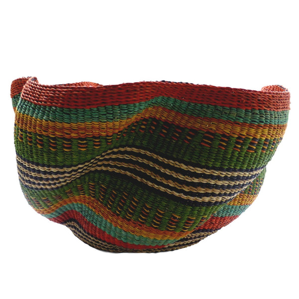 Pakurigo Wave Basket from Ghana - Bolga Basket, Storage BABAPW22
