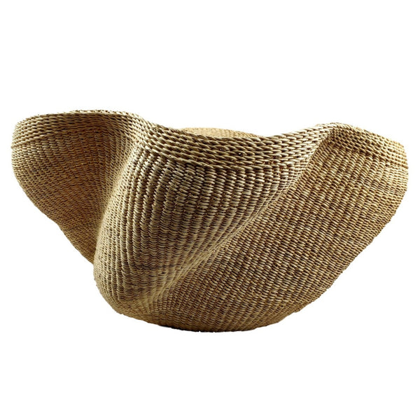 Pakurigo Wave Basket from Ghana - Bolga Basket, Storage BABAPW25