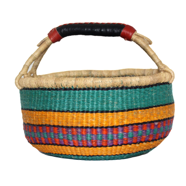 African Basket, Storage Basket, Bolga Basket, Woven Basket, Ethnic, Boho, Medium,  BABAMB93-14