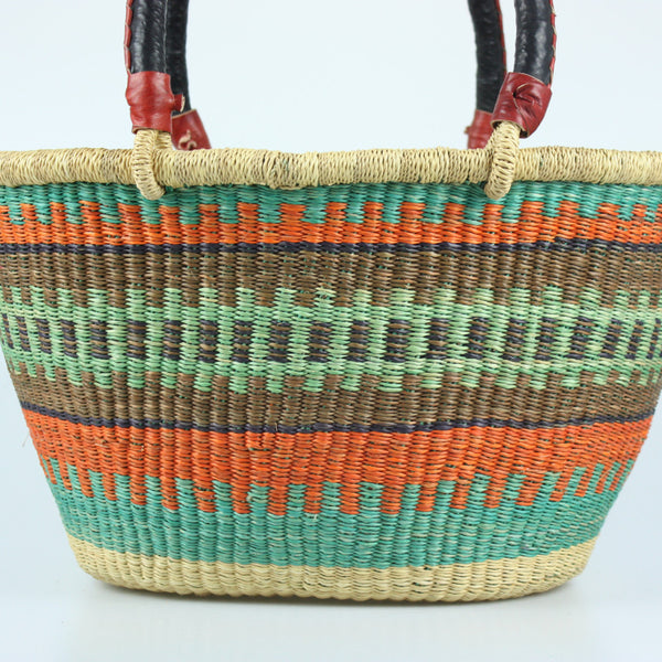 Bolga Oval Tote Bag from Ghana
