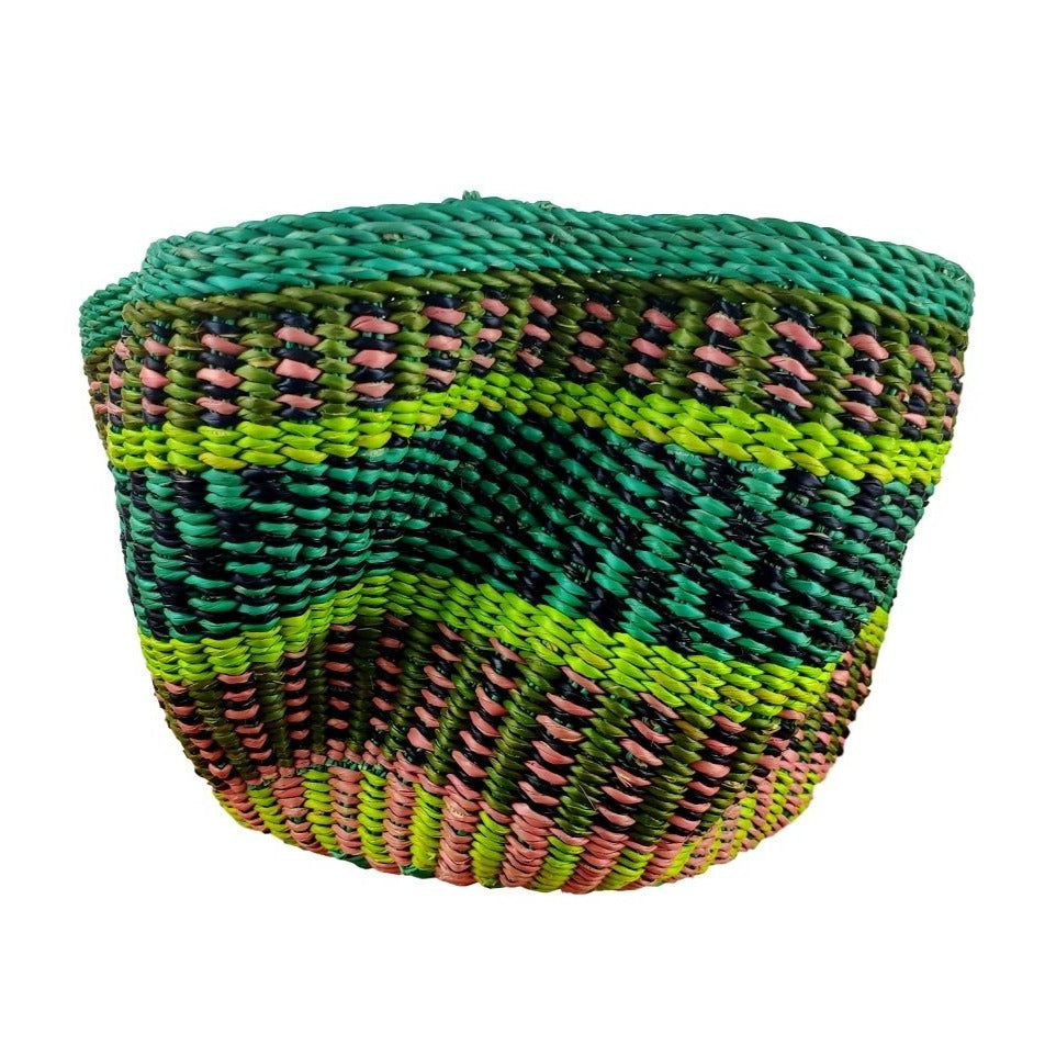 Baba Tiny Wave Basket - African Bolga Basket, Ethnic - BABATW3