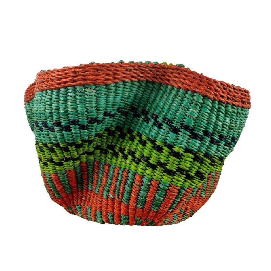 Baba Tiny Wave Basket - African Bolga Basket, Ethnic - BABATW7