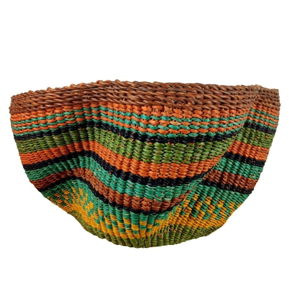 Baba Tiny Wave Basket - African Bolga Basket, Ethnic - BABATW9