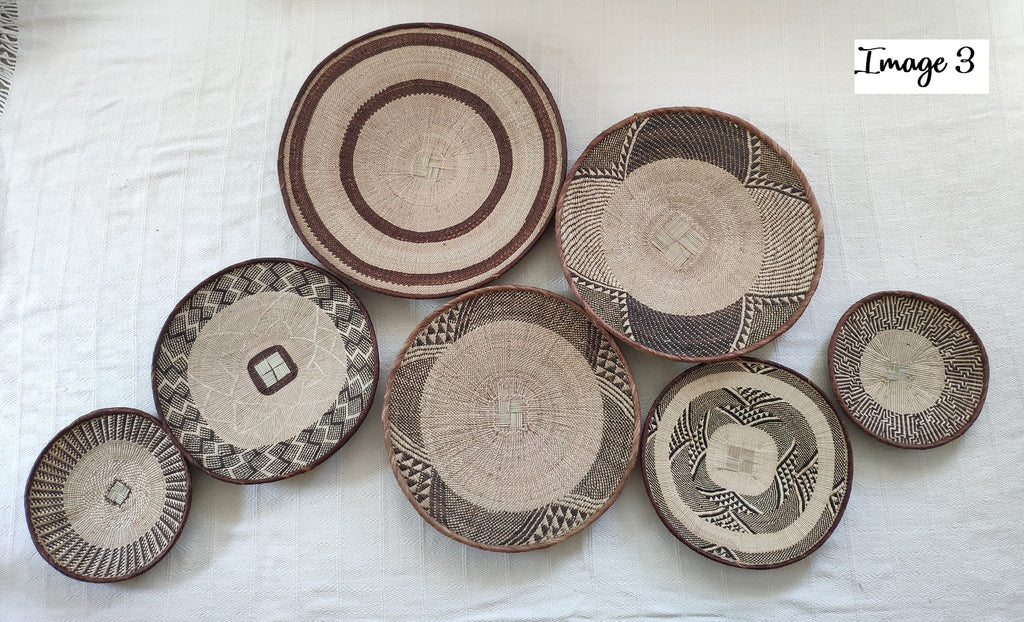 7 x Basket Group for Bianca- African Wall Baskets ZBB