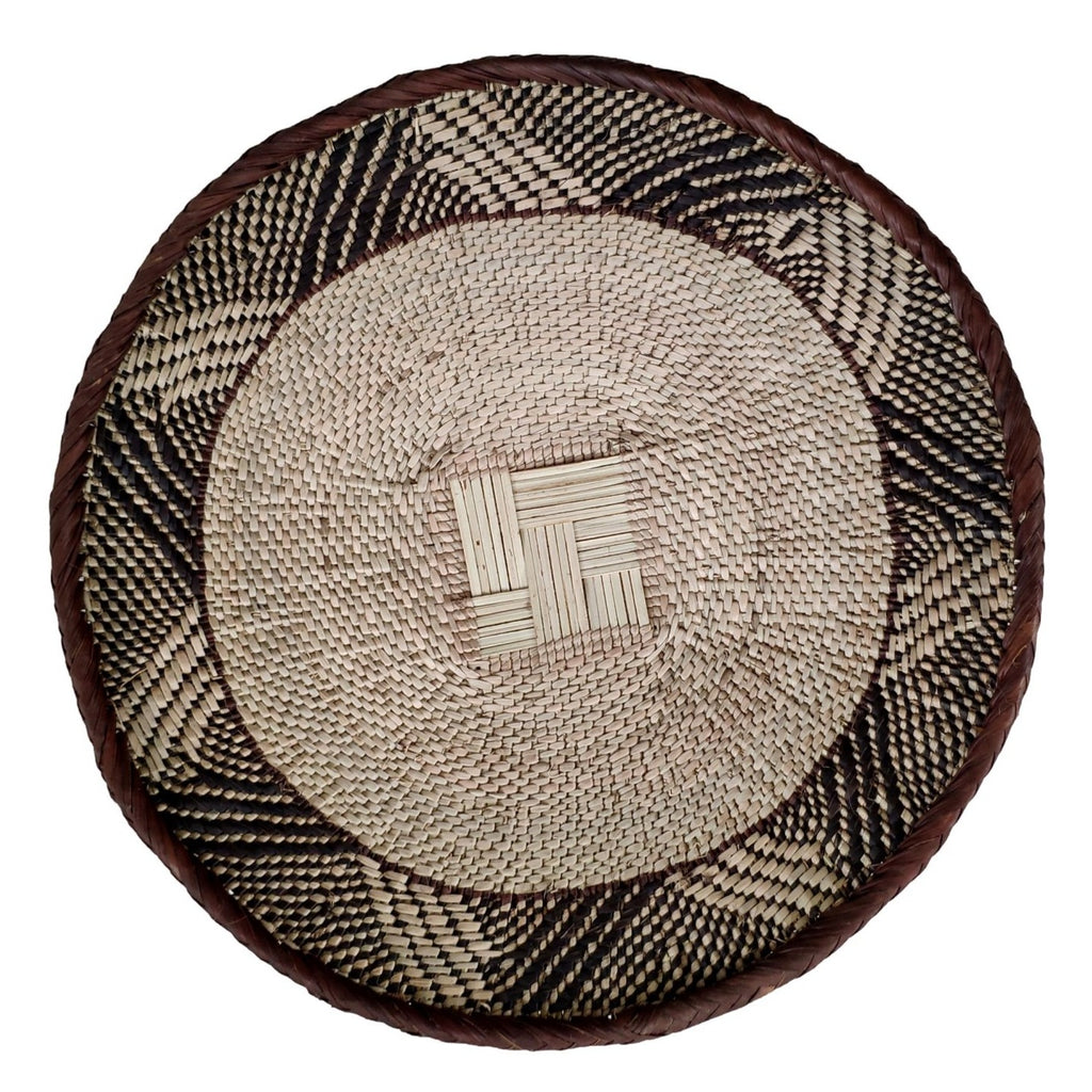 "Binga Basket 30.5cm (12"") - African Wall Baskets - ZBB2487"