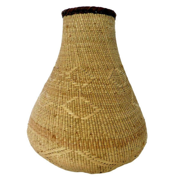 "Binga Calabash Basket 32cm (12 1/2"") high - Medium Handmade, African Basket, Vase - CB23"