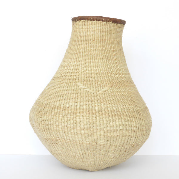 "Binga Calabash Basket 30cm (11 3/4"") high - Medium Handmade, African Basket, Vase - CB14"