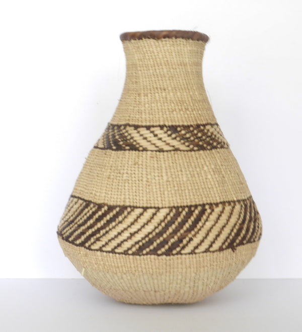 "Binga Calabash Basket 32cm (12 1/2"") high - Medium Handmade, African Basket, Vase - CB15"