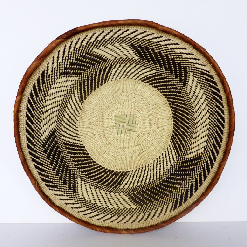 "Binga Basket 43cm(17"") - African Basket, Bowl, African Wall Baskets - ZB1610"