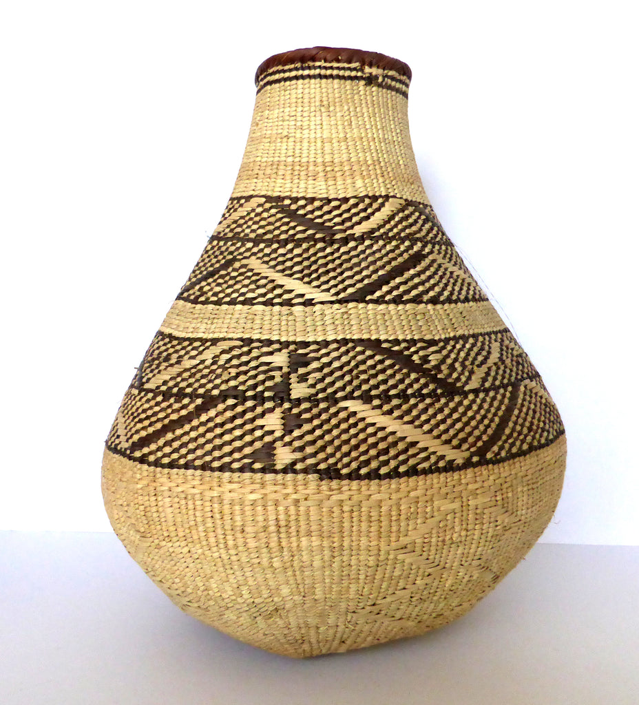 "Binga Calabash Basket 35cm (13 3/4"") high - Medium Handmade, African Basket, Vase - CB24"