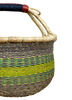 African Basket, Storage Basket, Bolga Basket, Woven Basket, Ethnic, Boho, Medium,  BABAMB106-15