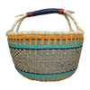 African Basket, Storage Basket, Bolga Basket, Woven Basket, Ethnic, Boho, Medium,  BABAMB108-15