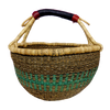 African Basket, Storage Basket, Bolga Basket, Woven Basket, Ethnic, Boho, Medium,  BABAMB109-16