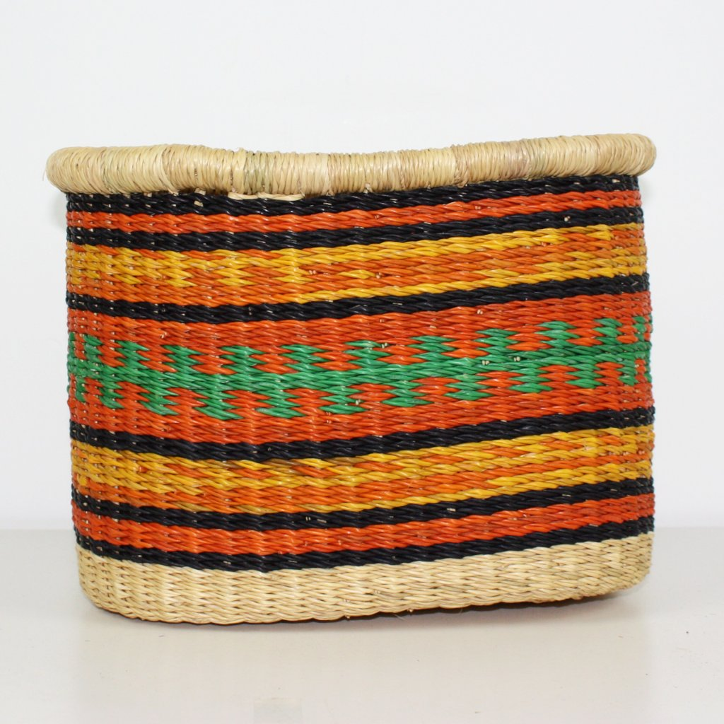 Bicycle Basket, African Basket, Bolga Basket - BABABB13S Small