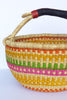 African Basket, Storage Basket, Bolga Basket, Woven Basket, Ethnic, Boho, Medium,  BABAMB120-16