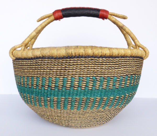 African Basket, Storage Basket, Bolga Basket, Woven Basket, Ethnic, Boho, Medium,  BABAMB122-16