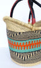 Ushopper Tote Bag, Medium, African Bolga Basket, BABANS13M