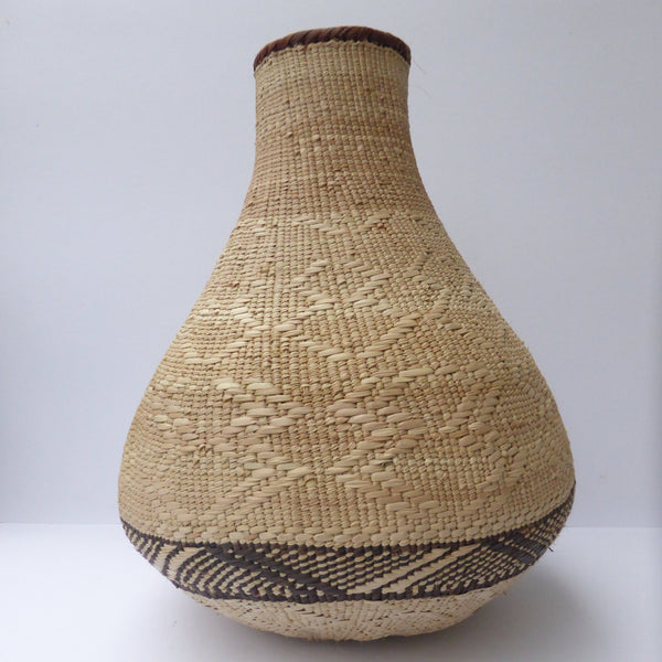 "Binga Calabash Basket 36cm (14"") high - Medium Handmade, African Basket, Vase - CB30"