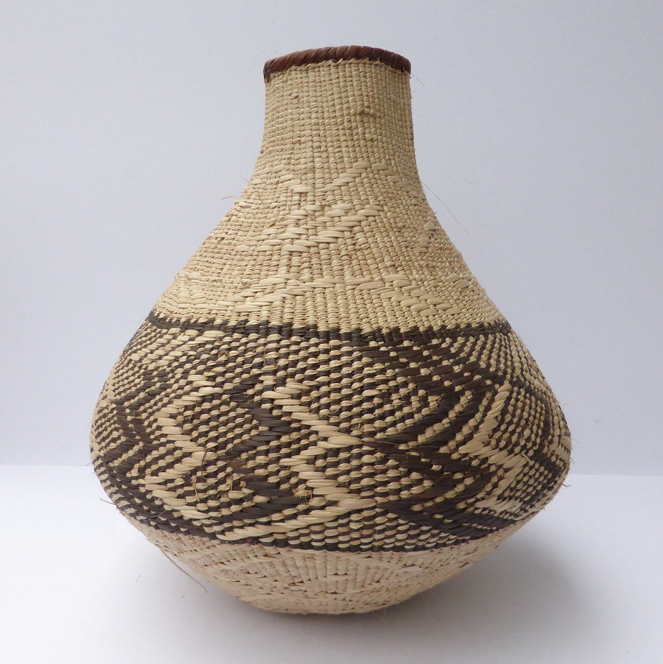 "Binga Calabash Basket 31cm (12 1/4"") high - Medium Handmade, African Basket, Vase - CB34"