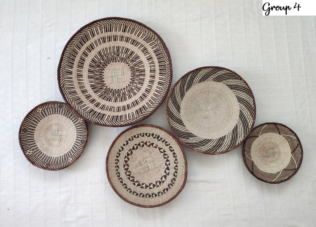 5 Basket Group for Katie - African Wall Baskets, Binga Basket ZBB