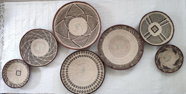 7 X Basket Group for Danielle - African Wall Baskets ZBB
