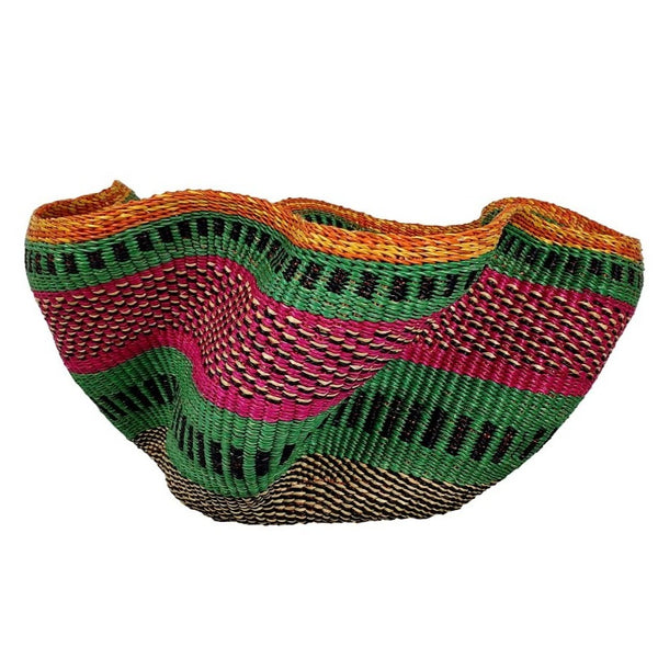 Pakurigo Wave Basket from Ghana - Bolga Basket, Storage BABAPW21
