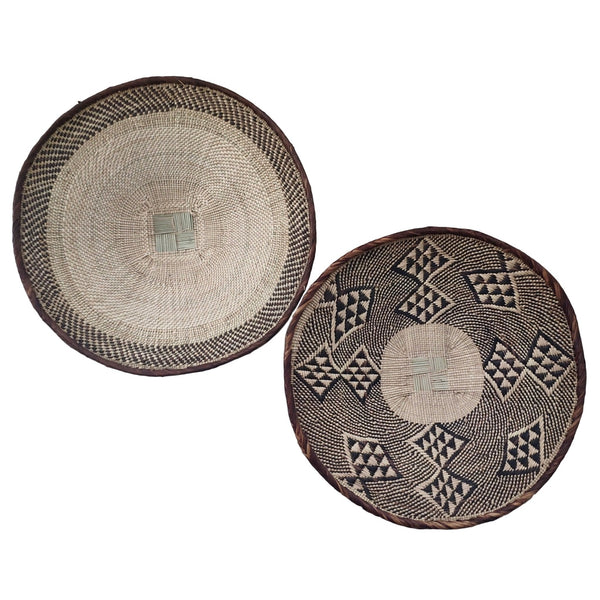 African Basket Group, 2 x Binga Baskets (Seconds)-  Wall Basket Set ZBB1G66
