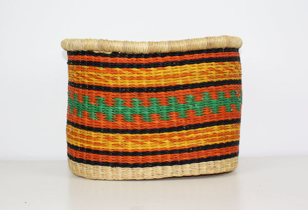 Bicycle Basket, African Basket, Bolga Basket - BABABB11M Medium