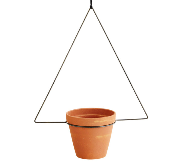Madam Stoltz Triangle Hanging Pot Holder, Boho Style